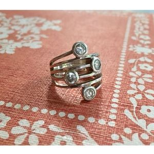 Vintage Sterling Multiple Stone Ring